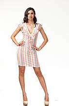 Летнее женское платье с глубоким вырезом. П108