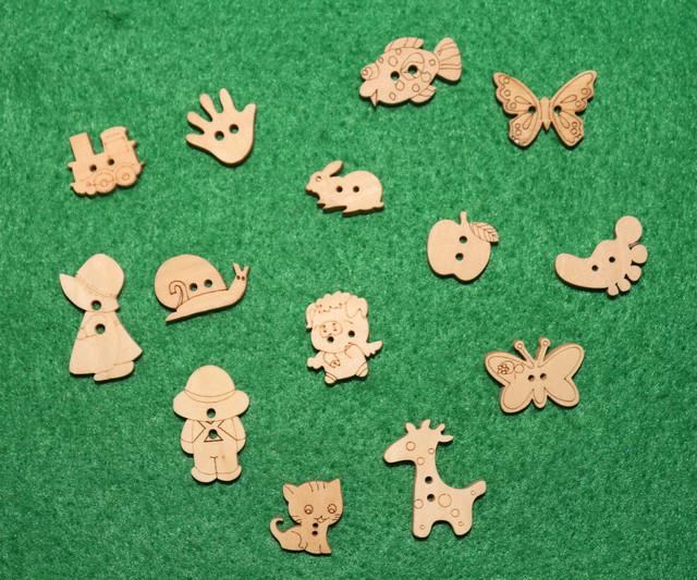 Пуговицы декоративные (деревянные)