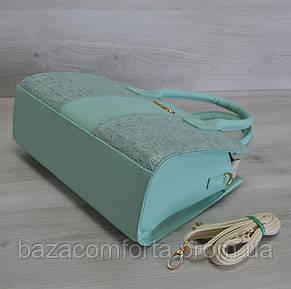 Каркасная женская сумка Селин цвета ментол, фото 2