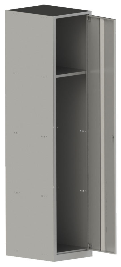 Шкаф металлический 1800х400х500, серый цвет, 1 секция Шафа металева