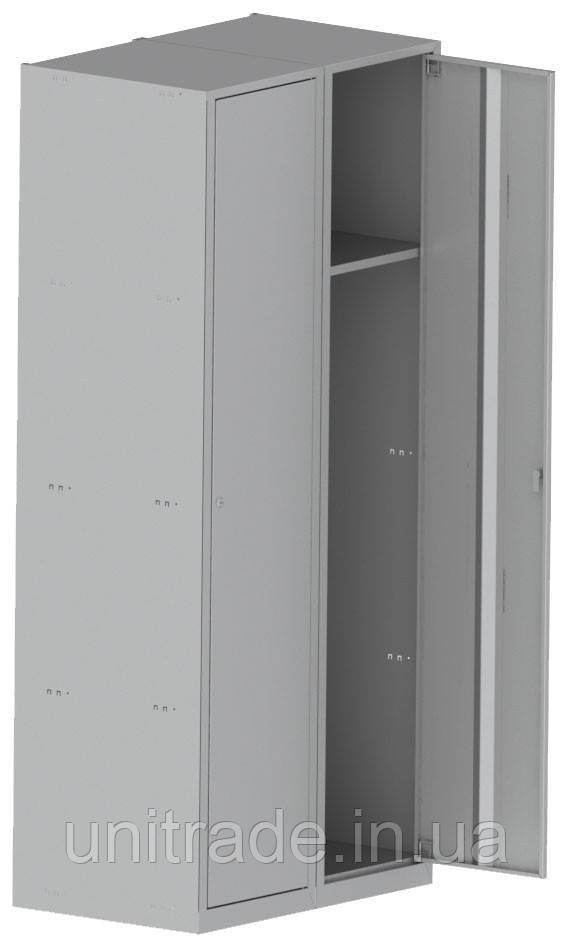 Шкаф металлический 1800х600х500, серый цвет, 2 секции Шафа металева