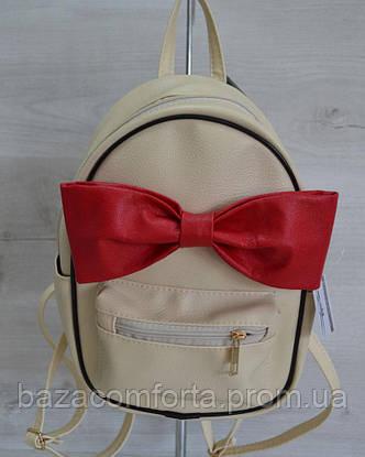 Молодежный рюкзак «Мики» бежевый, фото 2