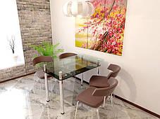 Стол обеденный стеклянный Сакура (Sentenzo TM), фото 3