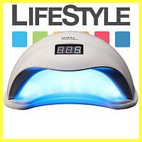 Светодиодная UV+LED лампа SUN 5 48W white с дисплеем и сенсором. Скидка -30%