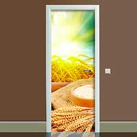 Виниловая 3Д Наклейка на дверь Этно полноцветная фотопечать пленка для двери декор 650*2000 мм