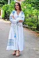 Платье вышитое свадебное платье лен, вишите плаття вишиванка, белое платье с вышивкой