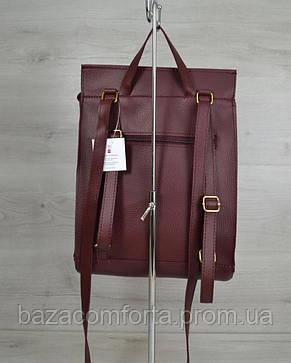Молодежный сумка-рюкзак бордового цвета, фото 2
