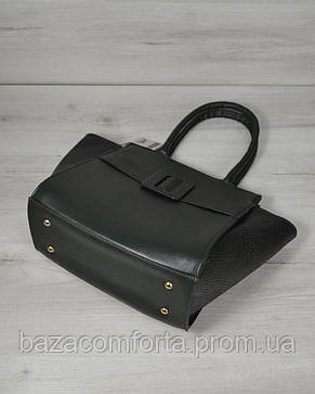 Молодежная сумка « Ремень» зеленого цвета, фото 2