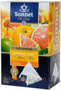 Чай чорний Sonnet Цитрус мікс,20 пир.