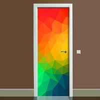 Вінілова 3Д Наклейка на двері Абстракція повнокольоровий фотодрук плівка для дверей декор 650*2000 мм