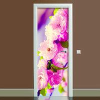 Наклейка на дверь Романтик, (полноцветная фотопечать, пленка для двери)