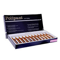 Комплекс с плацентарными и растительными экстрактами против выпадения волос POLIPANT COMPLE,12штх10мл