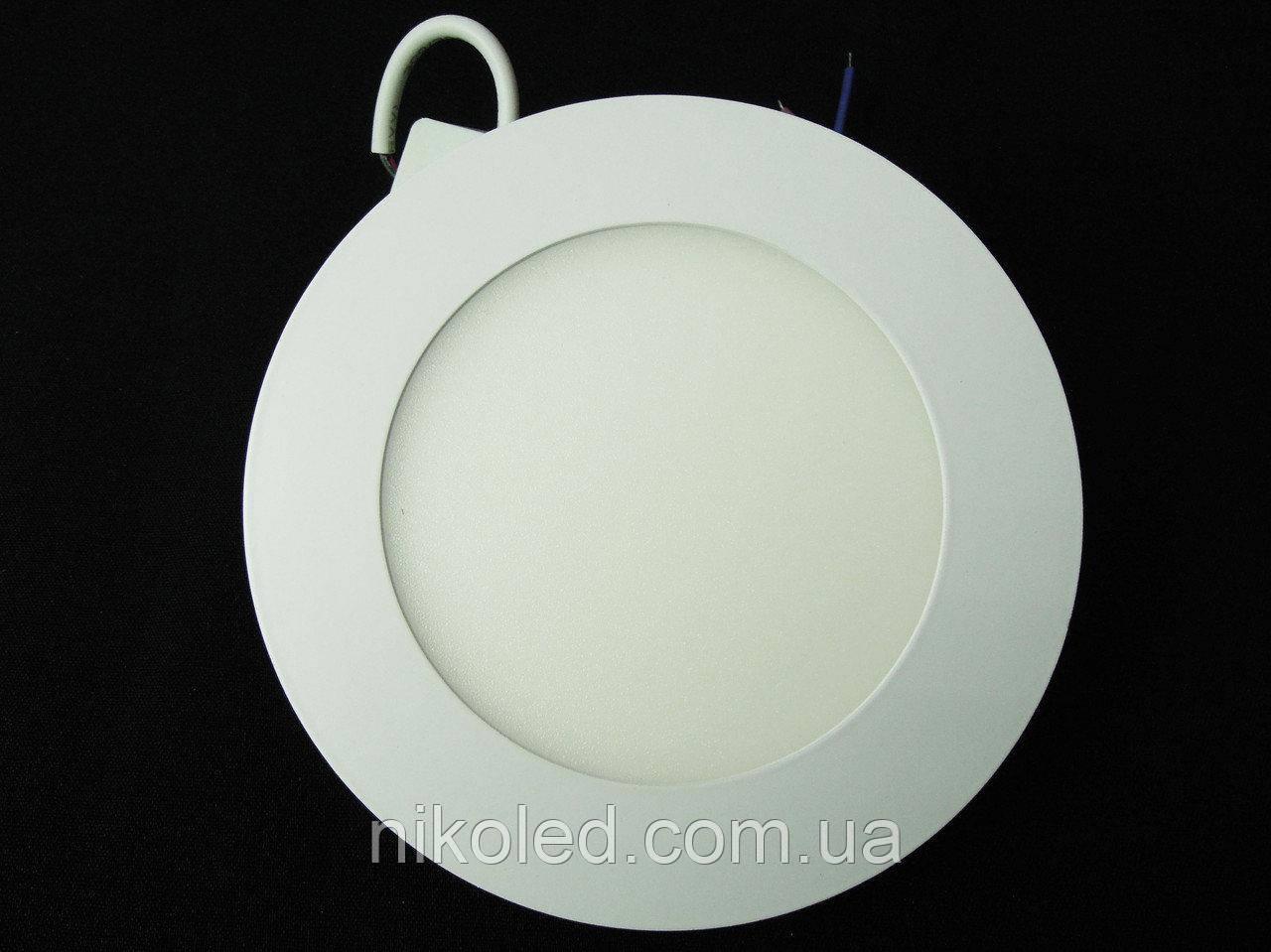 Світильник точковий Slim LED 9W круглий Теплий білий