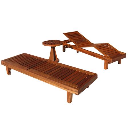 Два шезлонга со столиком, фото 2