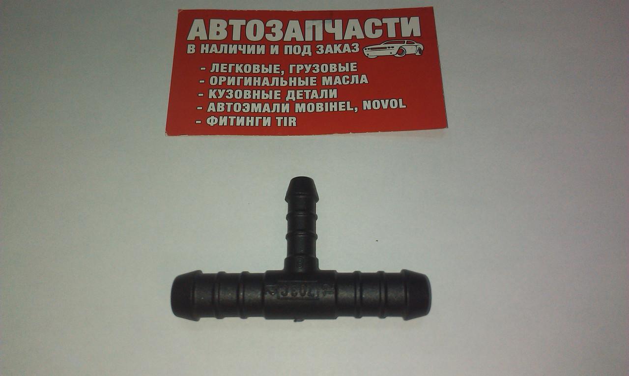 Переходник шланга тройник Д=12х8х12 пластиковый Болгария