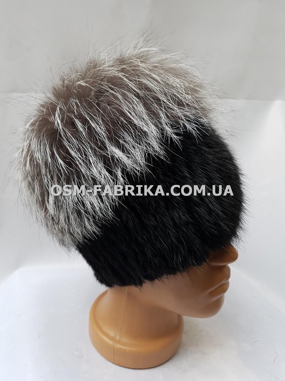 Мягкая меховая шапка для женщин чернобурка хит продаж, фото 1