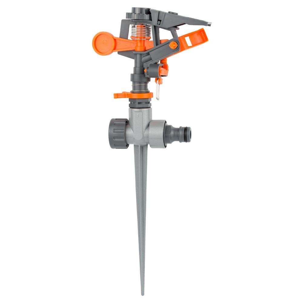 Дождеватель импульсный на металлическом колышке (пластик) FLORA 5013234