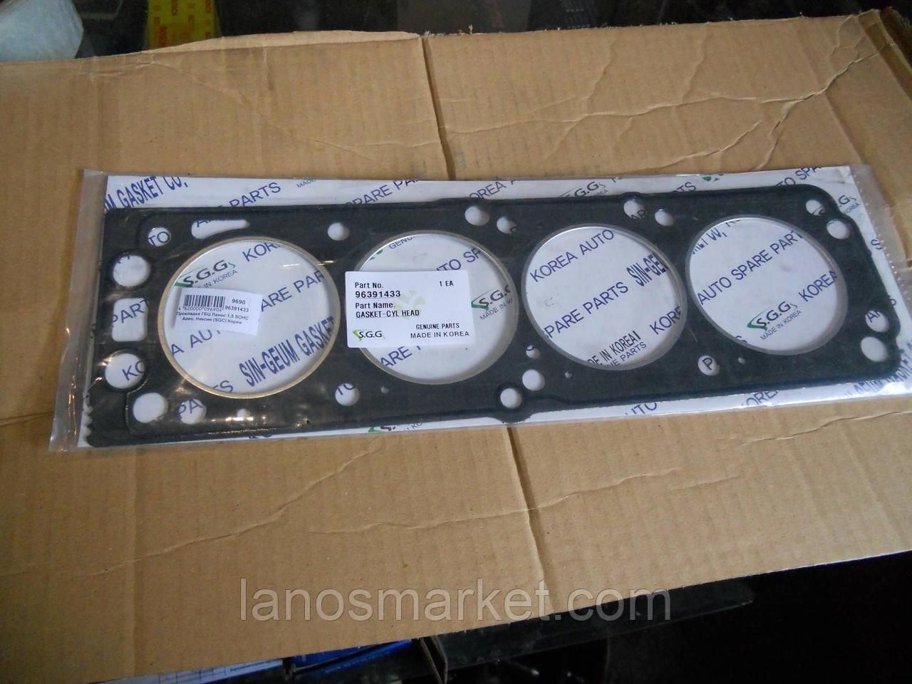 Прокладка ГБЦ Ланос 1,5 SOHC Авео, Нексия (SGC) Корея