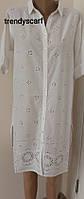 Женская летняя Туника Рубашка удлиненная MANGO.Удленненная рубашка. Хлопок. Индия