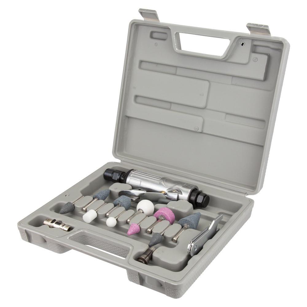 Шлифмашинка прямая пневматическая мет корпус с аксессуарами в кейсе 25000об/мин Sigma 6732851