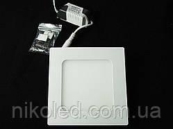 Светильник точечный Slim LED 9W квадрат нейтральный белый