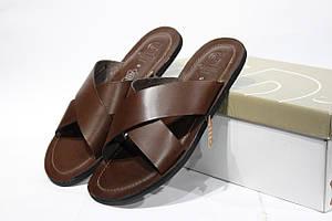 Шикарные кожаные шлепанцы Gemo Casual, Оригинал