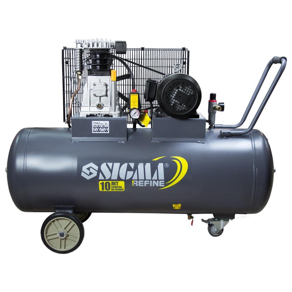 Поршневой компрессор с ременным приводом 380В 3кВт 550л/мин 10бар 150л Refine 7044231
