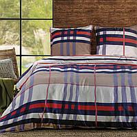 Комплект постельного белья теп бязь  евро 994 Шотландка