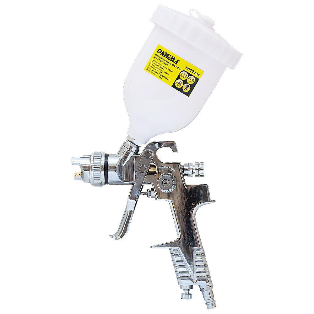 Краскораспылитель HVLP Ø1,3мм (хром) с в/б (пласт) sigma 6812131