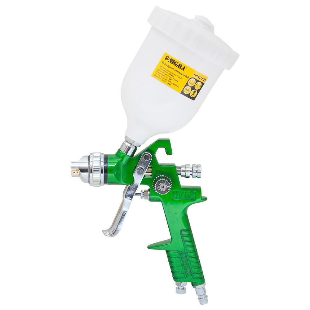 Краскораспылитель HVLP Ø1.3 с в/б  (зеленый) sigma 6812101
