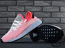 Женские кроссовки реплика Adidas Deerupt Runner Red/Blue CQ2624, фото 3