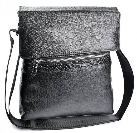 a47068f95aef Мужская кожаная сумка 98067 Black.Купить сумки оптом и в розницу дёшево в  Украине