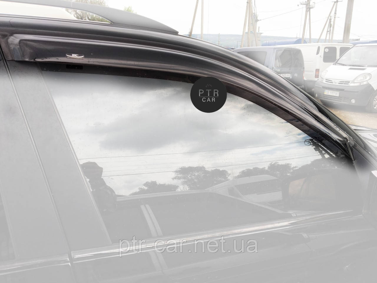 Дефлекторы окон (ветровики) Dodge Caliber 2007-> 4D 4шт (Hic)