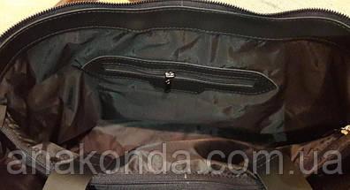 33-XL Натуральная кожа, Сумка мужская/женская/унисекс/для ноутбука, черная тиснение рогожка, фото 2