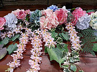 Гирлянда -микс (розово-голубой цвет), фото 1