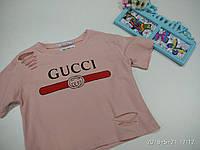 Топ трикотажный рванка молодежный Gucci