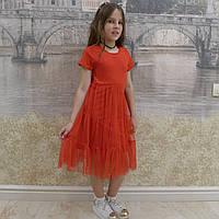 Платье -Фатин(красное), фото 1