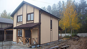 """Дом деревянный из SIP панелей """"Уютный"""""""