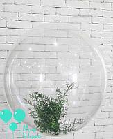 Пластиковый шар с живой флористикой, 65см