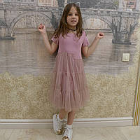 Платье -Фатин(пудра), фото 1