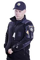 Кофта флисовая тактическая Полиция 260гр/м Черная