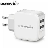 Универсальное зарядное устройство BlitzWolf BW-S2 на два USB порта, ток 4.8A