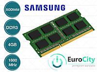 Оперативная память Samsung SODIMM DDR3-1600 4GB PC3-12800S (M471B5273DH0-CK0) Модуль ОЗУ для Ноутбука.