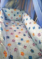 Бортики защита в кроватку, детское постельное белье 9 в 1