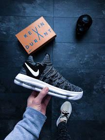 """Мужские кроссовки Nike KD 10 """"Fingerprint"""" АТ-725"""