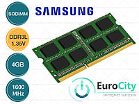 Оперативная память Samsung SODIMM DDR3L-1600 4GB PC3L-12800S 1.35V (M471B1G73QH3-YK0) Модуль ОЗУ для Ноутбука.