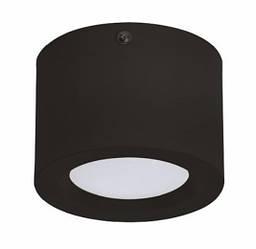 Светодиодный cветильник накладной SANDRA-5 5W 4200K цилиндр черный Код.59275