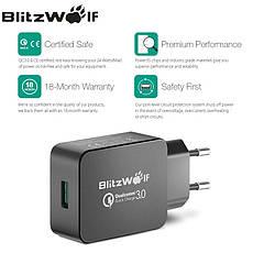 Универсальное зарядное устройство BlitzWolf BW-S5 18W-24W Quick Charge 3.0 + оригинальный кабель BlitzWolf, фото 2