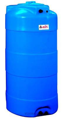 Накопительный бак для воды и других жидкостей ELBI CV 2000 литров, круглый вертикальный, фото 2