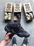 Кроссовки Adidas Yeezy 500 Utility Black.  Живое фото. (Реплика ААА+), фото 8